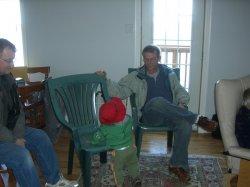 Grandpa John, Aidan, and Great-Uncle Steve