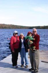Gwen, Great-Grandma Betty, Aidan, and Great-Grandpa Hank (Grumpy)