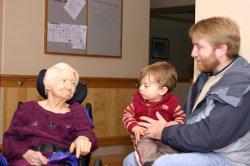 Great-grandma Muriel, Aidan and Anthony