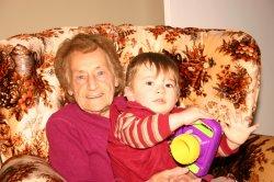 Great-grandma Marcella and Aidan