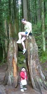 Kayla and Aidan in the Lynn Creek Park