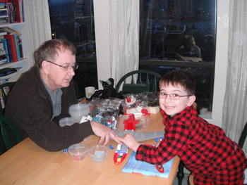 More Lego Airport assembly, December 2010