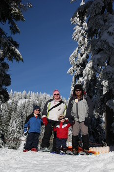 Snowshoeing at Mount Seymour, December 2010