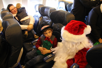 Flight in Search of Santa, November 2010