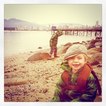 Geocaching at Kits Beach, February 2011