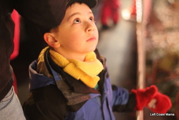 Aidan at Bright Nights in Stanley Park, December 2010
